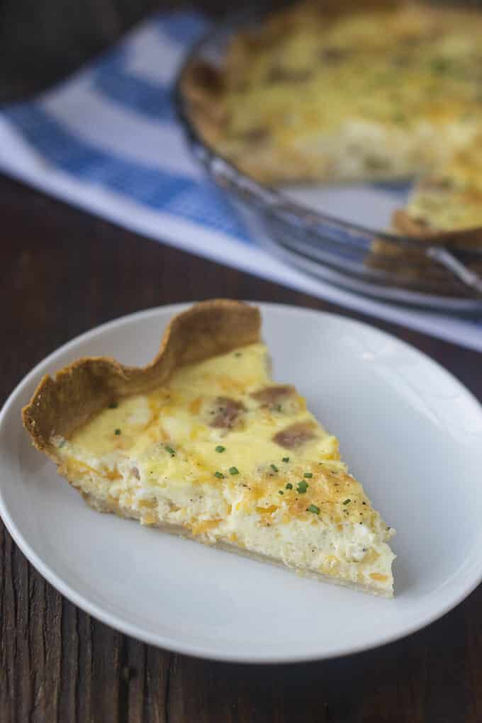 Who knew quiche was so easy to make? You can mix together your ingredients and get it into the oven in minutes. Give it a try tonight!