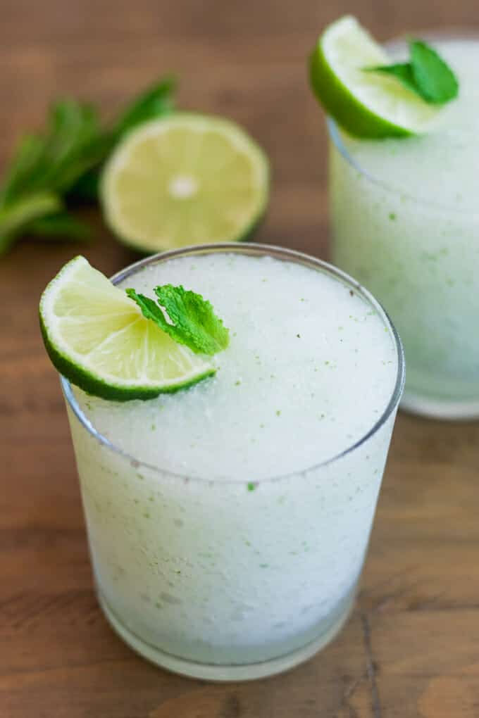 Fresh mint, lime and rum. Is there a cocktail more refreshing than a mojito? Yes! A frozen mojito!
