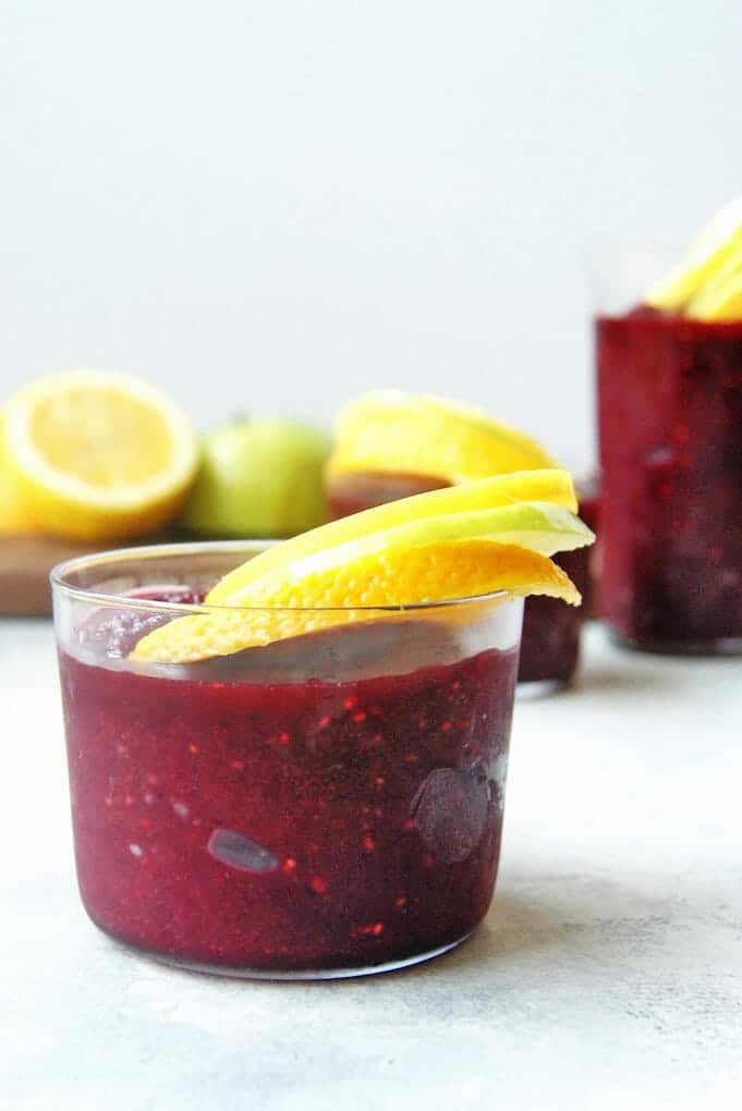 Sangria is the perfect drink for any party, and sangria slushies? You need this summery recipe like yesterday!