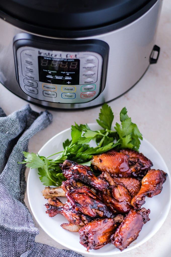 Instant Pot Teriyaki Chicken Wings - The Cookful