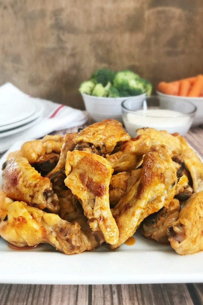 """There's nothing like """"set it and forget it"""" recipes when you're throwing a party, and Slow Cooker Chicken Wings are where it's at when you're craving chicken wings but have no time to watch them."""