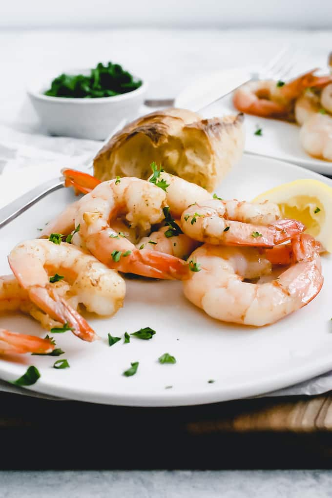 When you need a quick protein, Garlic Shrimp is the way to go. It requires very little prep and cooks in no time.