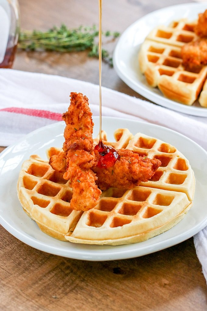 Chicken for breakfast?! Oh yeah! Chicken and Waffles is a classic comfort food breakfast, and we're showing you the best way to make it.