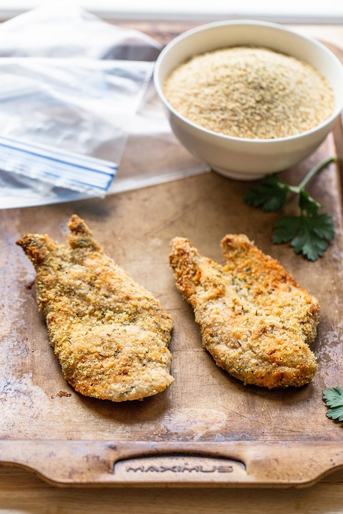 Homemade Shake and Bake Chicken is super quick to make, and this copycat shake and bake breading makes the chicken flavorful and crispy.