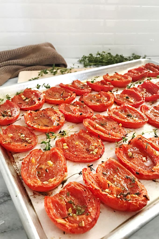 Roasted tomatoes adds a whole new level of flavor to your favor sauce based dishes. We're showing you several methods and comparing how they differ from sun-dried tomatoes. #tomatorecipes