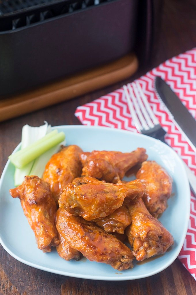 The air fryer is perfect when you want to make better-for-you Buffalo Wings for just a few people. The air fryer takes them from a game day treat to something you can enjoy any day - guilt-free.