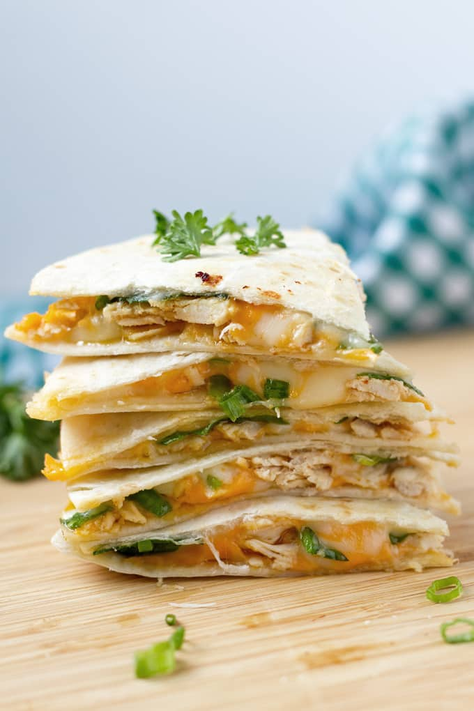 "Who doesn't love a good quesadilla? We're showing you how to make chicken quesadillas in your air fryer that turn out ""oven-baked"" without having to turn on the oven."
