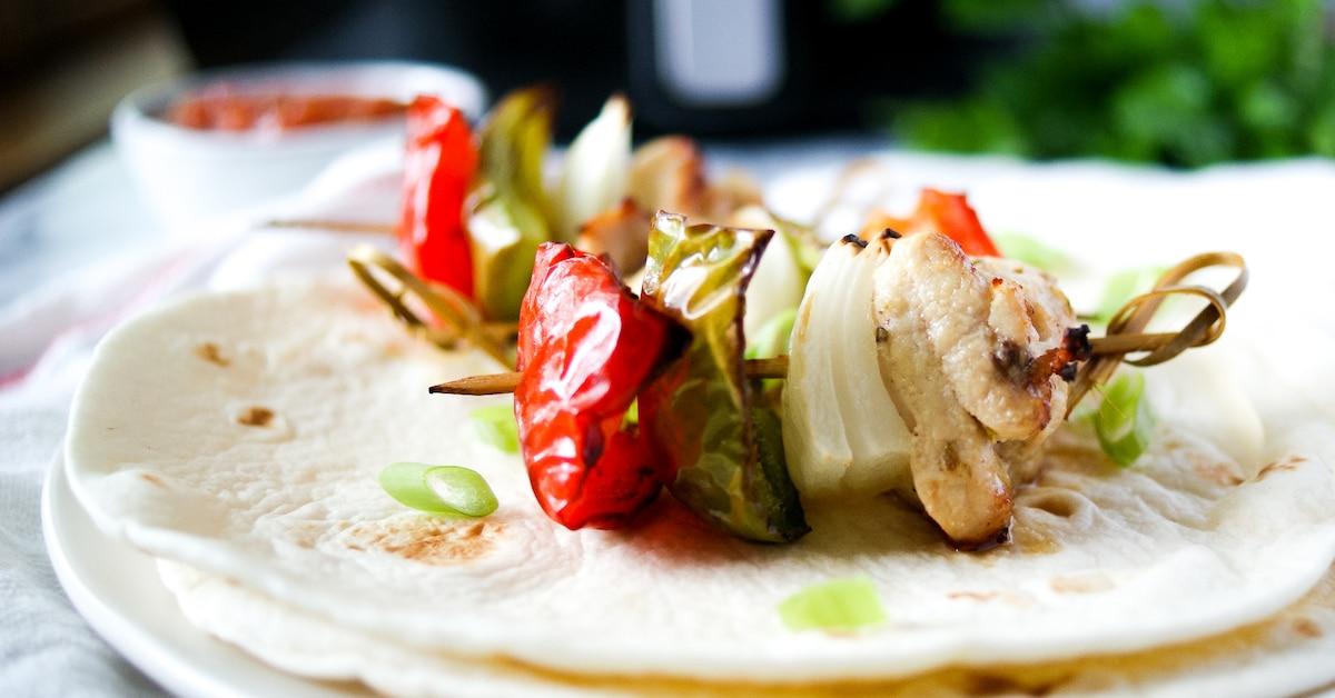 Air Fryer Chicken Fajita Kebabs The Cookful