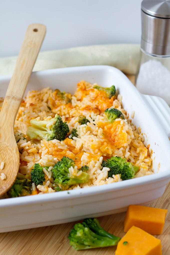 Super creamy Broccoli and Rice casserole is a popular casserole recipe for Thanksgiving and potlucks.