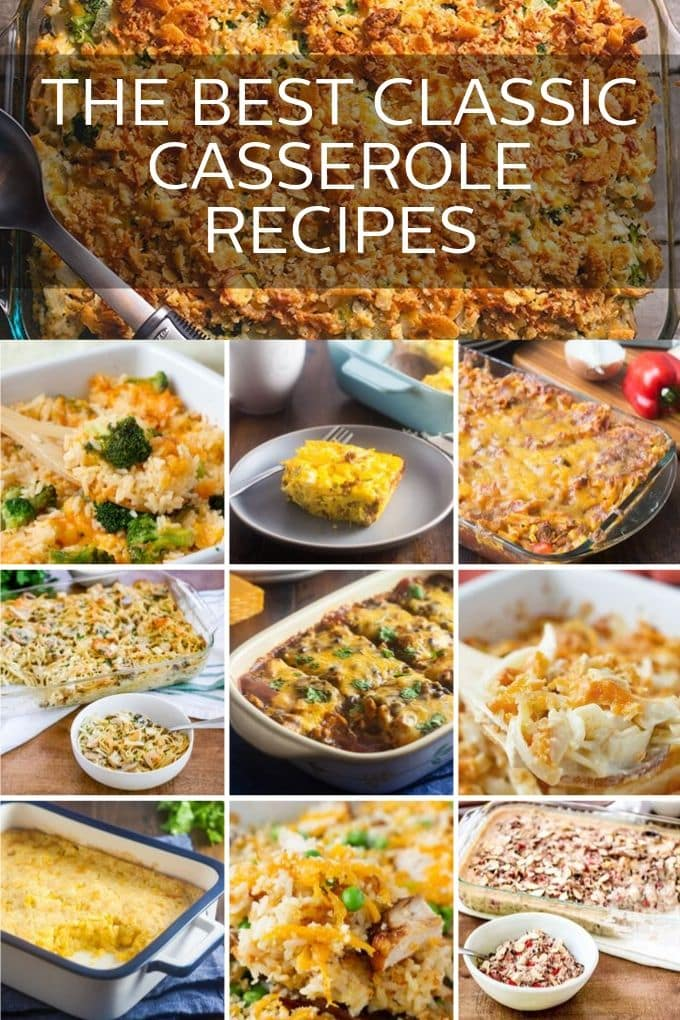 Don't forget to save this page! You're going to be making these comforting classic casseroles often. We've tested them and approved them all just for you. It's a tough job, but someone had to. ;)