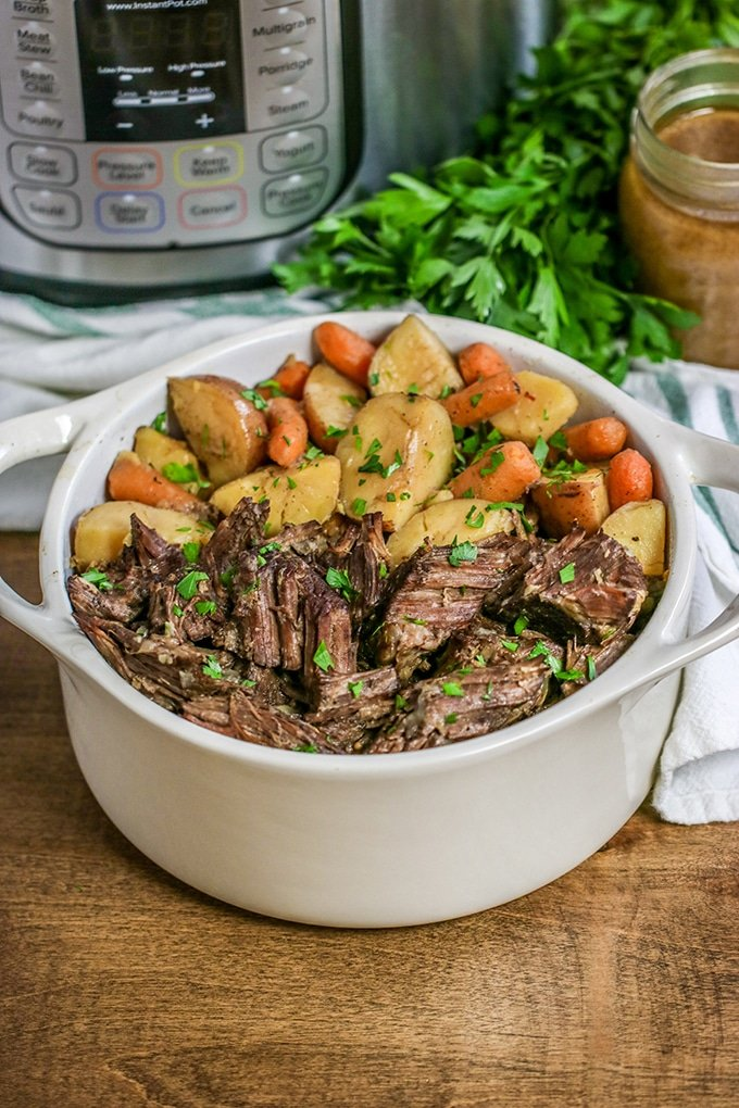 The Instant Pot takes everyone's favorite fall-apart pot roast that usually needs hours to bake to perfection and delivers it with more flavor in less time.