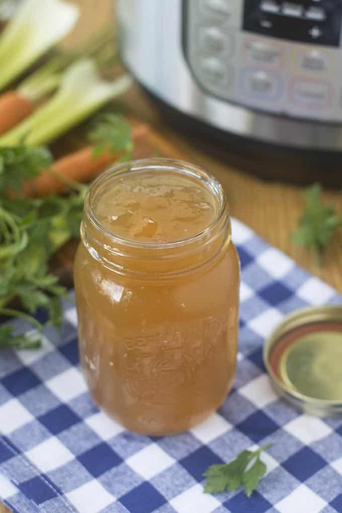 Bone broth is a stock made from meat bones. It's rich in protein and is an amazing flavor-base for so many dishes. This recipe is full of flavor and is guaranteed to gel when cooled. Get all my tips and suggestions for making your own perfect bone broth.