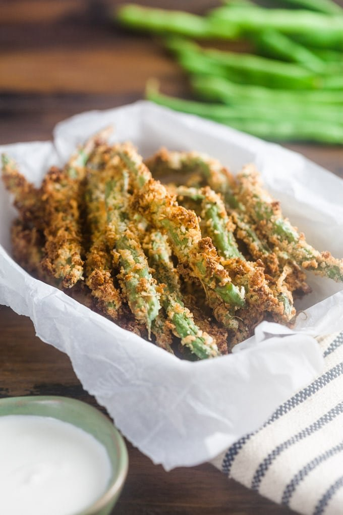 Air Fryer Green Bean Fries are crispy, crunchy, and totally addictive. They're the perfect dinner side dish, snack, or party appetizer. Really, perfect for any day and occasion.