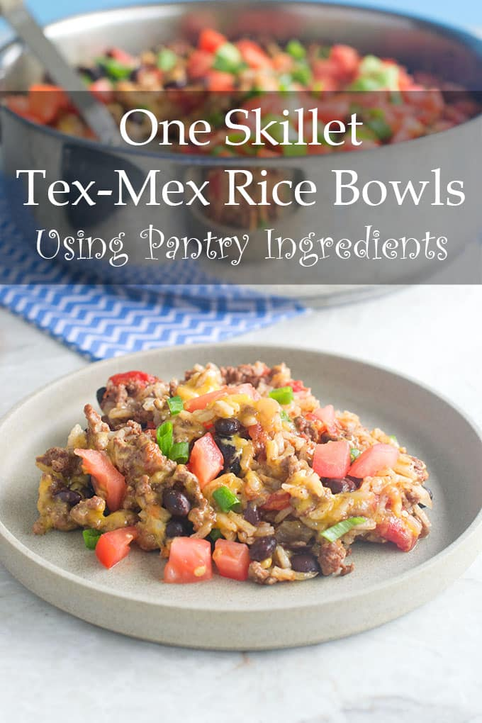 If you're missing those fast food rice bowls, never fear! Here's a Tex-Mex version that's made in one skillet and uses pantry ingredients so you can get your fix anytime!