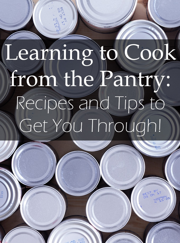 Having a well-stocked pantry can help when you A stocked pantry helps when you lack time to go to the store, or if you're stranded at home. Here are our best tips and recipes for pantry dinners. have time to go to the grocery store, or if you find yourself stranded at home for a few days. Here are our best tips and recipes for pantry dinners.