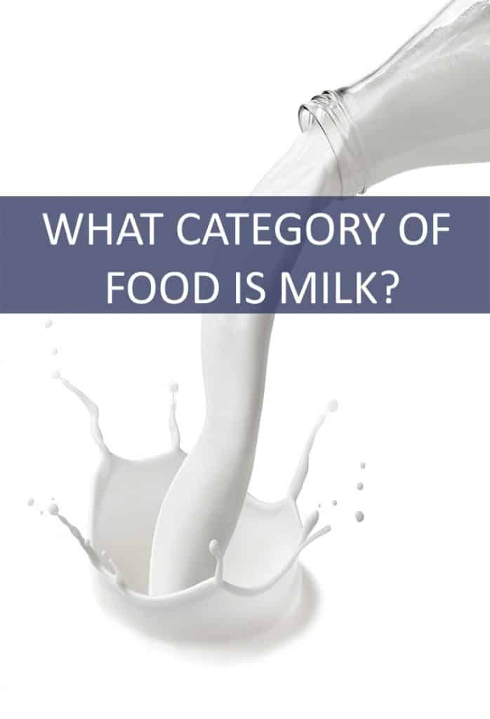 Milk is a common part of most people's diet. From cereal to a warm sleep aid, We enjoy milk all through our lives. But what category of food can we classify milk under?