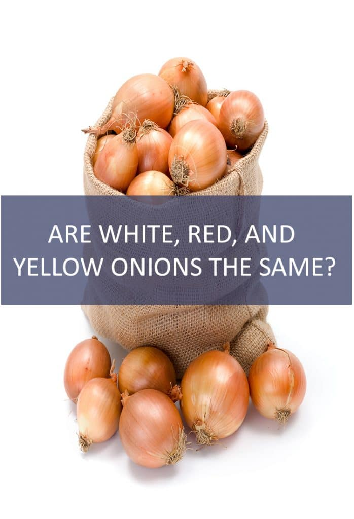 Are White, Red, and Yellow Onions the Same?