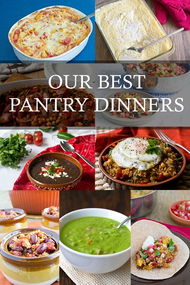 No dinner plan? We bet you can find something delicious to put together with our list of Pantry Dinners!