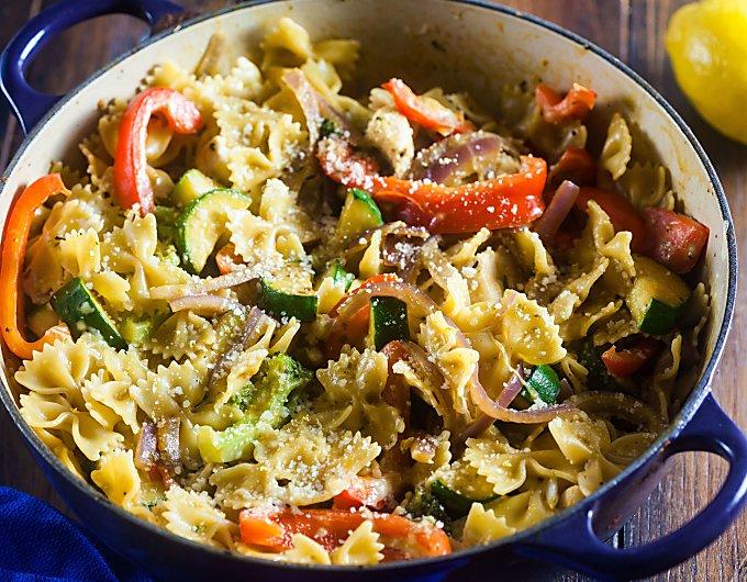 One Pot Pasta Primavera The Cookful