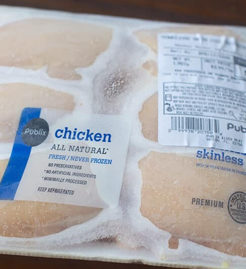 package of frozen chicken
